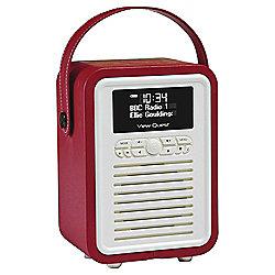View Quest Retro Mini DAB+/FM Radio with Bluetooth (Red)
