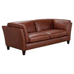 Santos Leather Medium Sofa Cognac