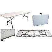 Harbour Housewares Folding, Events, Trestle Table - 8 ft Long. Foldable.