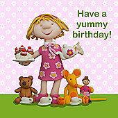 Holy Mackerel Yummy birthday Greetings Card