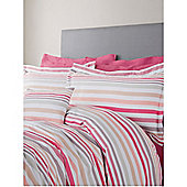 Pied A Terre Coco Stripe King Duvet Cover In Multi