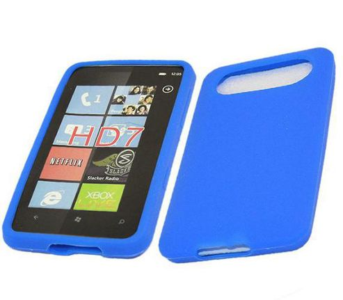 iTALKonline SoftSkin Silicone Case Blue - For HTC HD7 Blue