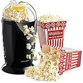 Andrew James Popcorn Maker in Black