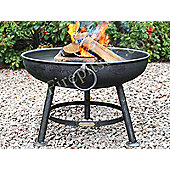 Homestead Living Plain Fire Pit with Tripod Legs and Band - 42 cm H x 60 cm W x 60 cm D