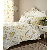 Catherine Lansfield Home Annabella Cotton Rich Fully Lined Curtains 66x72 inches - Lemon