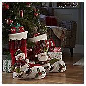 Green 3D Santa Christmas Stocking
