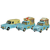 Oxford 1:76 Triple Ice Cream Van Set
