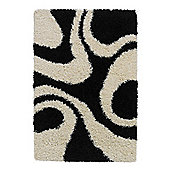 Oriental Carpets & Rugs Vista Black/White Rug - 220cm L x 160cm W