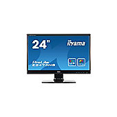 Iiyama ProLite E2473HS (23.6 inch) LED Backlit LCD Monitor 1000:1 300cd/m2 (1920x1080) 2ms D-Sub/DVI-D/HDMI/Headphone (Black)