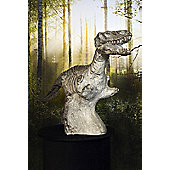 Amazing Dinosaur Fossil On Stand Resin Moulded 4Ft5 Long 2Ft2 High. Garden