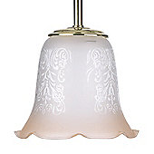Endon Lighting Amber Glass Sofia Decorative Glass Shade