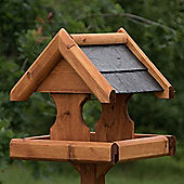 Wooden Bird Table with Slate effect roof