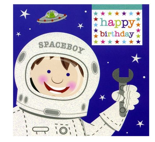 Super Spaceboy Birthday Card