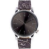 Komono Winston Print Black Paisley Watch KOM-W2153