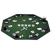 "eSecure 1.2m/48"" Large Poker Table Top for 8 Players with Poker Chip Trays and Drink Holders (Foldable)"
