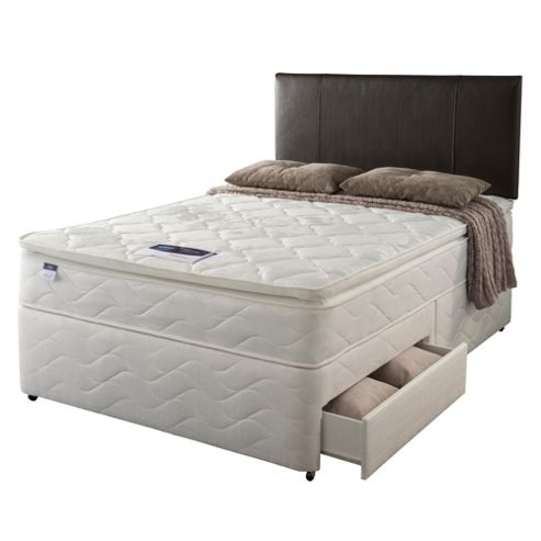 Silentnight Miracoil Pillowtop Fiji Single 2 Drawer Divan set