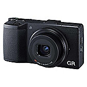 "Ricoh GR Digital Camera, Black, 16.9MP, 3"" LCD Screen, 28mm Lens"
