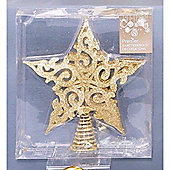 PREMDEC FILIGREE STAR GOLD 20CM