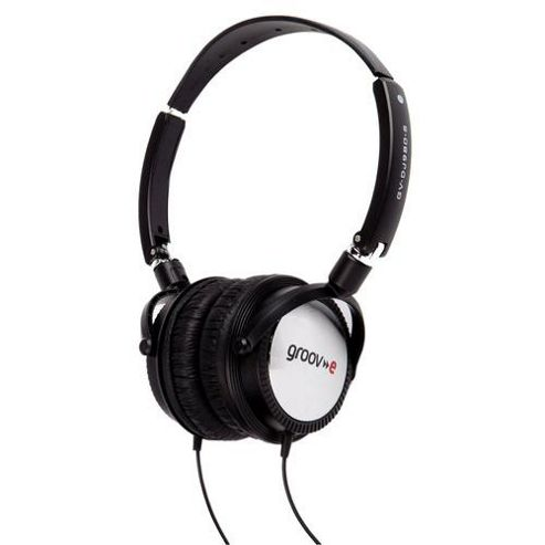 Groov-e GVDJ980S Lightweight DJ Style Headphones - Black