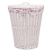 Tesco White Wicker Lined Laundry Bin