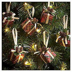 Traditional Presents Christmas Tree Decorations, 6 pack