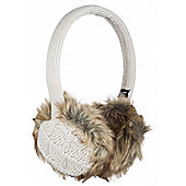 Audio Earmuff Fur With Diamond Knit Cream