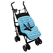 Clair De Lune Pushchair Liner Fun  funky Blue
