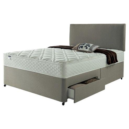 Silentnight Miracoil Luxury Micro Quilt 2 Drawer Super King Divan Mink With Headboard
