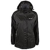 Pakka Womens Waterproof Lightweight Rain Coat Sport Running Jacket - Black