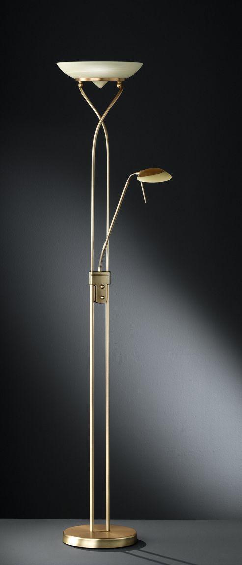 Wofi Skin Floor Lamp - Bronze - Amber
