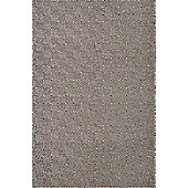 Husain International Flatweave Target Brown Rug - 120 cm x 180 cm (3 ft 11 in x 5 ft 11 in)