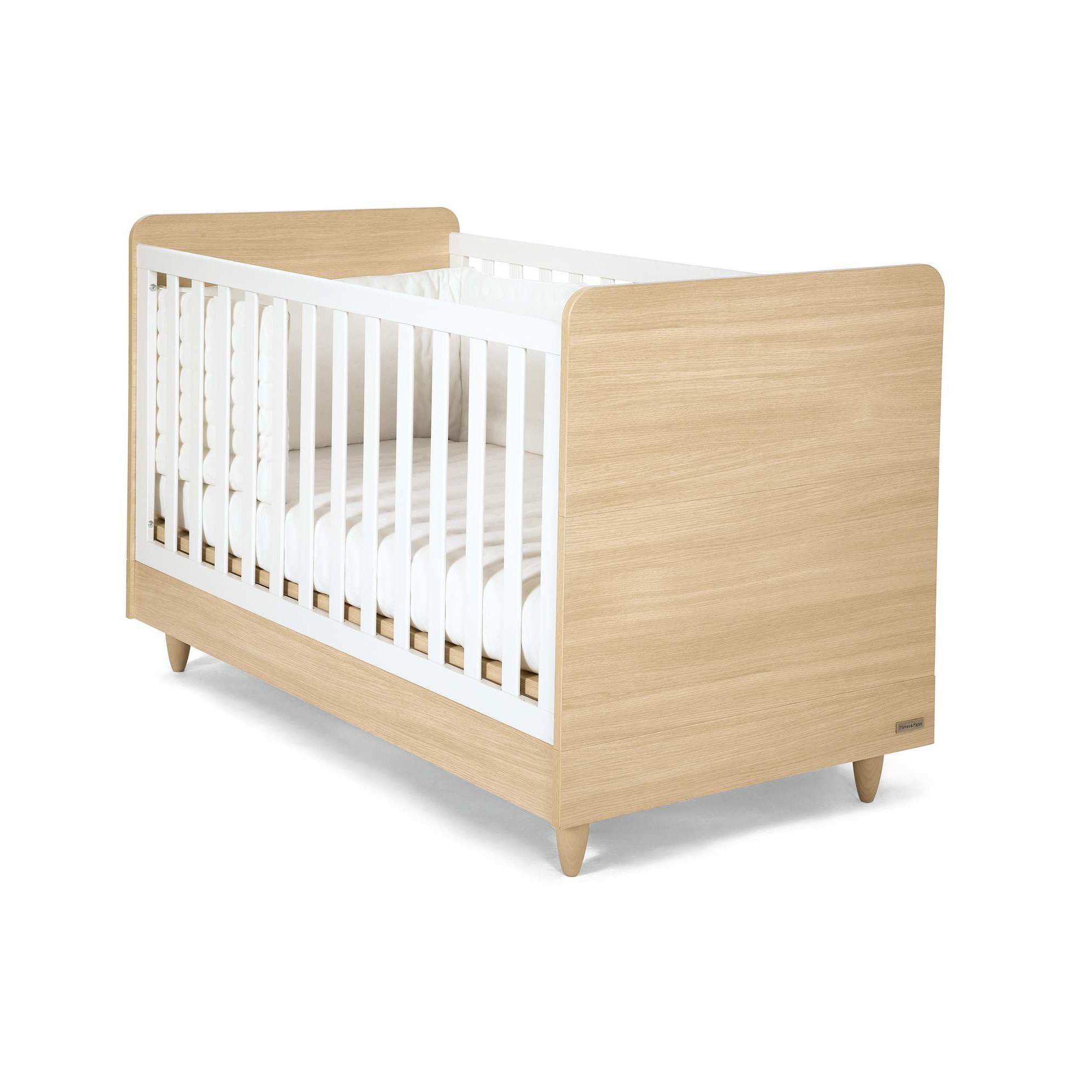 Mamas & Papas - Manhattan Cot/Toddler Bed - Natural/White at Tesco Direct
