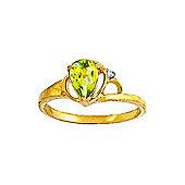 QP Jewellers Diamond & Peridot Glow Ring in 14K Gold
