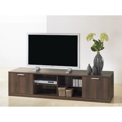 Tvilum Viiwa TV Stand with Four Open Shelves - Black Woodgrain