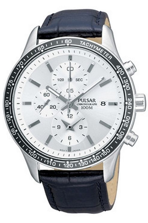 Pulsar Gents Stainless Steel Chronograph Strap Watch PF8405X1