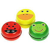 Bigjigs Toys BJ139 Animal Yo-Yo's (Pack of 3 - Designs Vary)