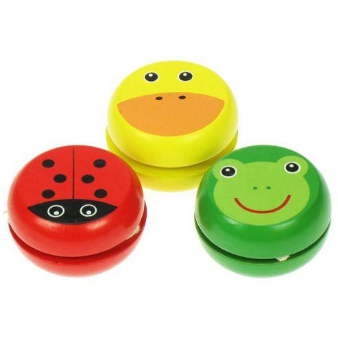 Bigjigs Toys BJ139 Animal Yo-Yo's (Pack of 3 - Designs Vary)