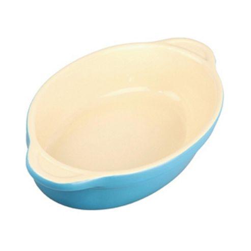 Denby Ceramic Small Oval Dish, Azure Blue