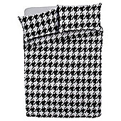 Tesco Basic dogtooth print duvet set KS black