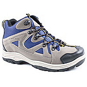 Mountain Peak Mens Grey and Blue Fako Hiking Boot - Grey