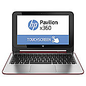 "HP x360 11.6"" Convertible Touch Laptop, Intel Celeron, 4GB Memory, 500GB Storage - Red"