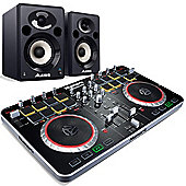 Numark Mixtrack Pro II + Alesis Elevate 5 Active Monitors Package