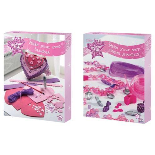 Sparkle & Glitz Make Your Own Handbag / Charm Bracelet Set