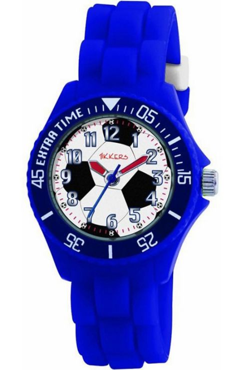 Peers Hardy Tikkers Children's Quartz Watch Blue/Football