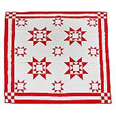 Woven Magic Ohio Star-Red Crib Throw