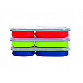 Yellowstone Large Pack Away Silicone Lunch Box - 3 Pack