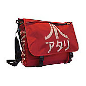 Atari Messenger Bag With Japanese Logo, Crimson Red (mb221005ata) - Accessories