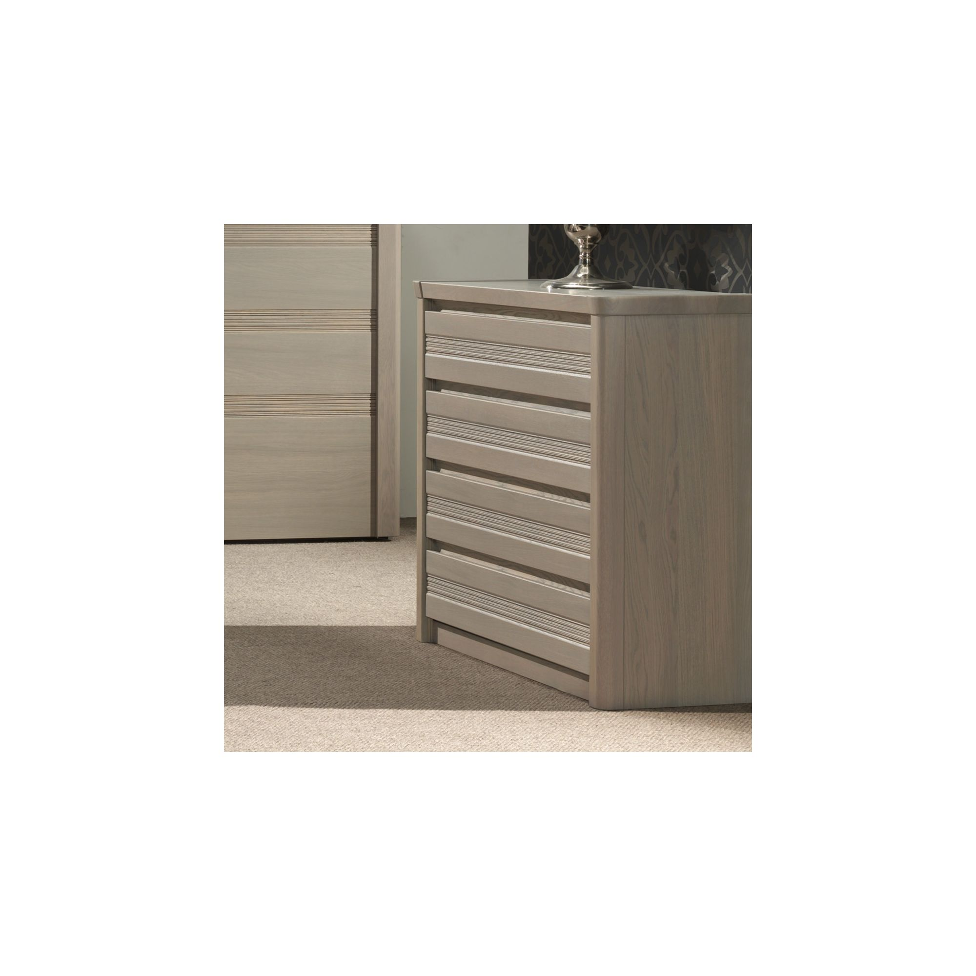 Sleepline Mundo 4 Drawers Chest - Grey Mat Lacquered at Tesco Direct