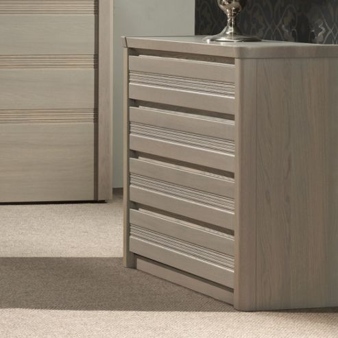 Sleepline Mundo 4 Drawers Chest - Grey Mat Lacquered