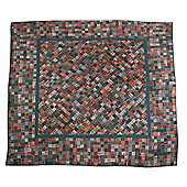 Woven Magic 11733 Patch Quilts Dark Plaids Crib Throw